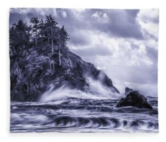 A Blustery Day Fleece Blanket