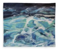 A Boiling Sea Fleece Blanket