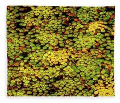 A Botanical Mosaic Fleece Blanket