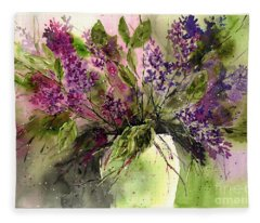 A Bouquet Of May-lilacs Fleece Blanket
