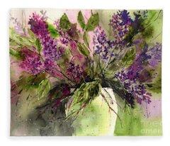 A Bouquet Of May-lilacs Fleece Blanket