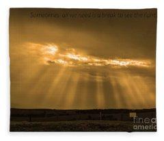 A Break Fleece Blanket