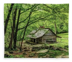 A Cabin In The Woods Fleece Blanket