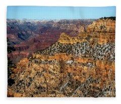 A Canyon Winter Fleece Blanket