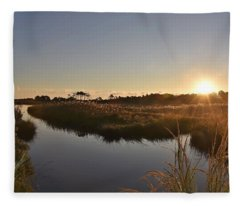 Canal View At Gordon's Pond Fleece Blanket