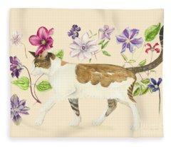 A Cat Called Dave Fleece Blanket