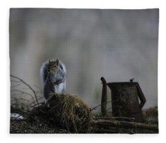 A Cautious Pause Fleece Blanket