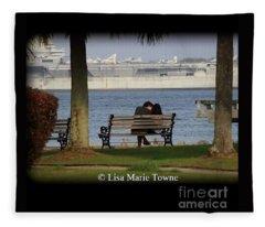 A Charleston Kiss Fleece Blanket