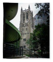 A Charlotte Church Tower Fleece Blanket