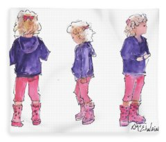A Childs Pose Fleece Blanket