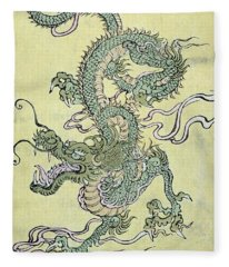 A Chinese Dragon Fleece Blanket