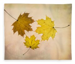 A Circle Of Autumn Leaves Fleece Blanket