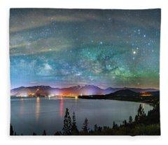 A City Full Of Stars By Brad Scott Fleece Blanket