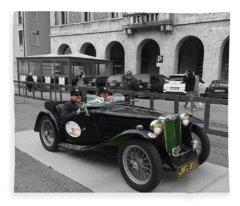 A Classic Vintage British Mg Car Fleece Blanket
