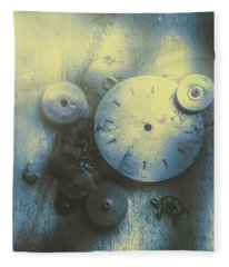 A Clockwork Blue Fleece Blanket