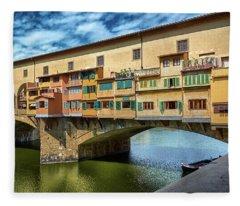 A Closer Look To Ponte Vecchio Fleece Blanket