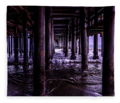 A Cloudy Day Under The Pier Fleece Blanket