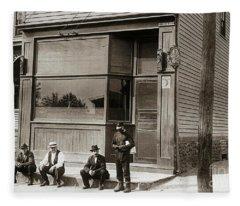 A Coal Miners Bar  George Ave Parsons Pennsylvania Early 1900s Fleece Blanket