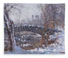 A Cold Sunny Day At Three Sisters Islands Fleece Blanket