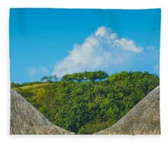 A Collection Of Triangles In Bora Bora Fleece Blanket
