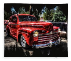 A Cool 46 Ford Coupe Fleece Blanket