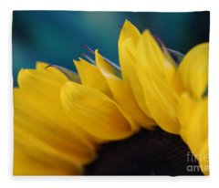 A Cool Sunflower Fleece Blanket