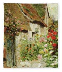A Cottage Door Fleece Blanket