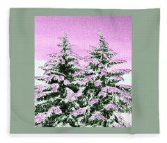 A Cotton Candy Winter Fleece Blanket