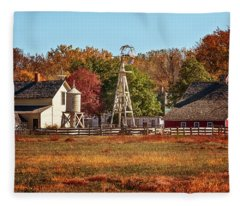 A Country Autumn Fleece Blanket
