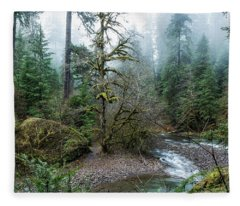 A Creek Runs Through It Fleece Blanket