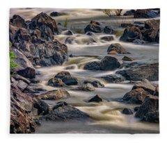 A Creek To The Side Fleece Blanket