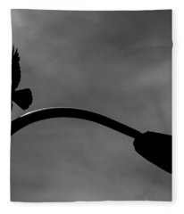 A Crow And A Streetlight Fleece Blanket