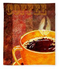 A Cup Of Coffee Fleece Blanket