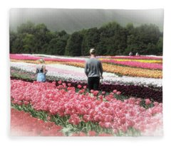 A Day Amongst The Tulips Fleece Blanket