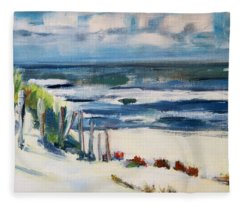 A Day By The Sea Fleece Blanket
