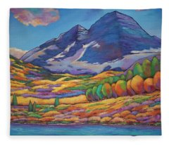 A Day In The Aspens Fleece Blanket