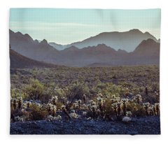 A Desert Morning Fleece Blanket