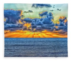 A Different Sunset Fleece Blanket
