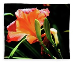 A Different View Lily Fleece Blanket
