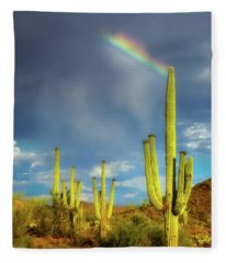 Fleece Blanket featuring the photograph A Divine Touch by Rick Furmanek