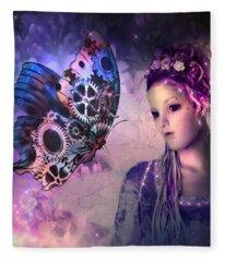 A Fairy Butterfly Kiss Fleece Blanket