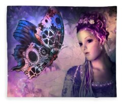 A Fairy Butterfly Kiss Fleece Blanket