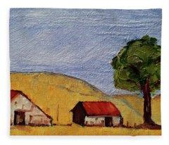 A Farm In California Winecountry Fleece Blanket