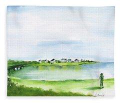 A Farmer's View-isle Of Palms Fleece Blanket