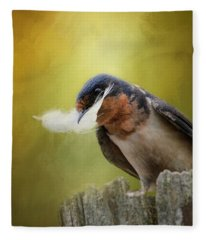 A Feather For Her Nest Fleece Blanket