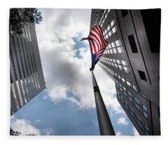 A Flag In Charlotte Fleece Blanket
