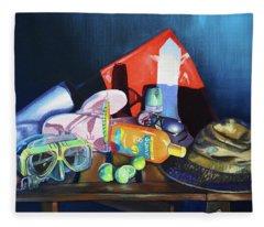 Still Life Of The Florida Keys Fleece Blanket