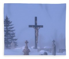A Foggy Figure Fleece Blanket