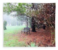 A Foggy Spring Morning Fleece Blanket
