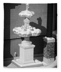 A Fountain Of Snow Fleece Blanket